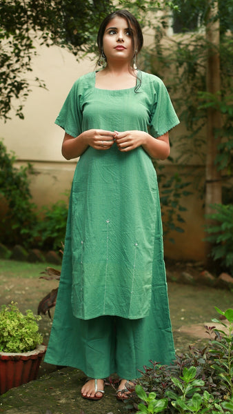 Ocean green tunic set