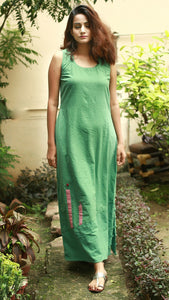 Ocean green long dress