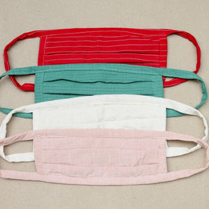 Solid and stripes cotton Face mask