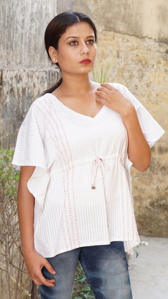 White cotton top: Kaftan