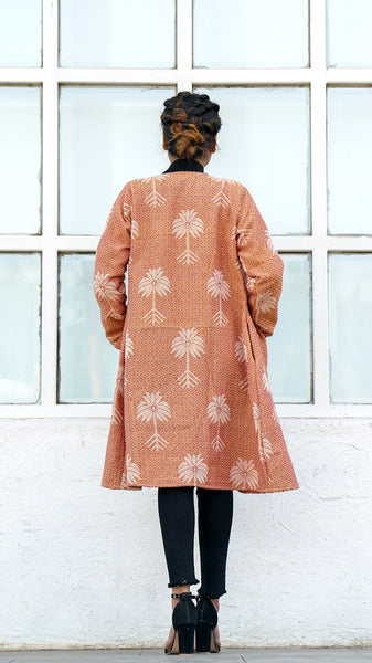 Maple honey jacquard overlay