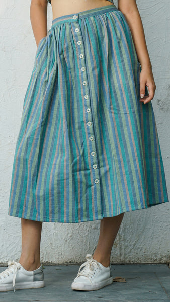 Serena striped skirt set