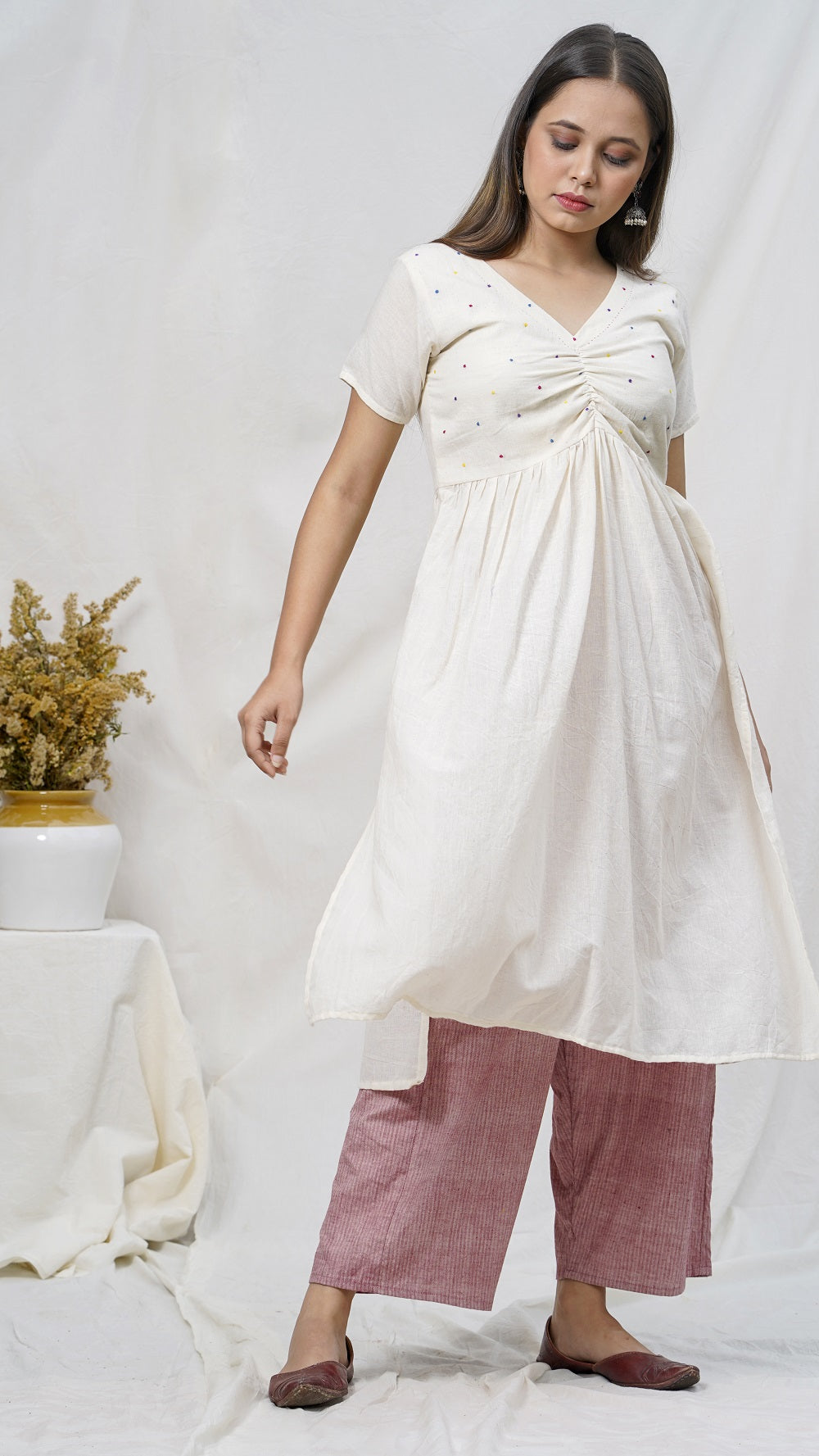 Guler cotton tunic set online available at bebaakstudio.com