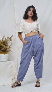 Bahar crop top and pant Set online available at bebaakstudio.com