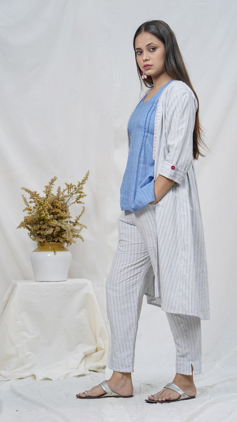 Cotton shrug coordinate available online at bebaakstudio.com