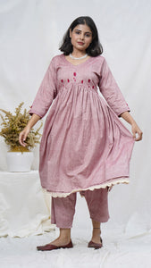 Rosa Embroidered tunic set online available at bebaakstudio.com