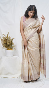 Gul pure kosa silk handloom saree online available at bebaakstudio.com