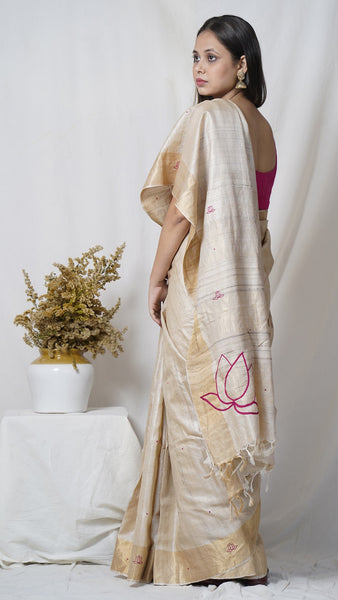 Padma pure kosa silk handloom saree online available at bebaakstudio.com