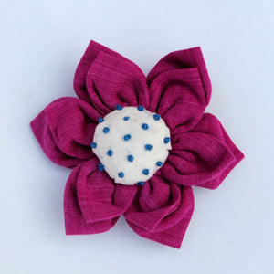 Brooch : Shop Pink Lily floral brooch online at bebaakstudio.com
