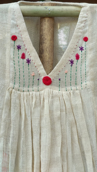 Kora V neck embroidered dress