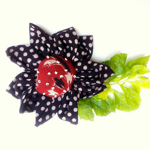Brooch : Shop Black polka dot brooch online at bebaakstudio.com
