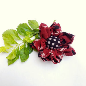 Brooch : Shop Red floral block print brooch online at bebaakstudio.com