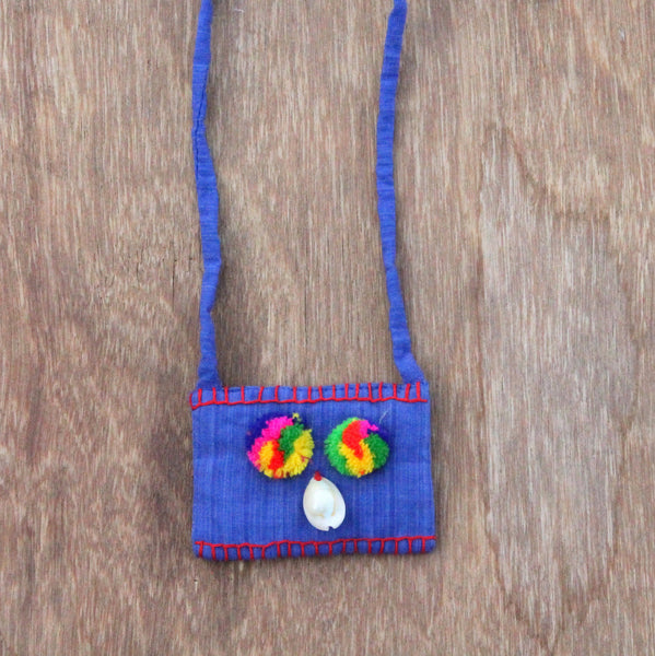 Textile necklace: upcycled and handcrafted in India