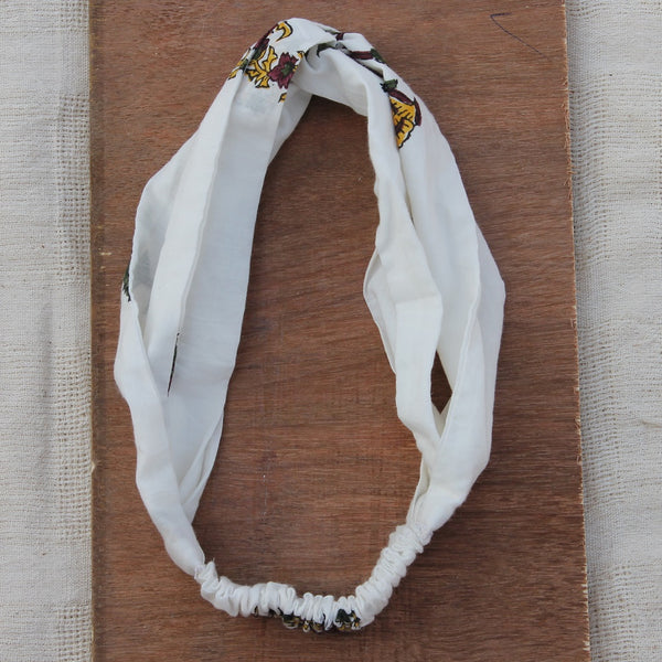 Ivory knotted bow headband