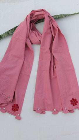 Mauve embroidered stole