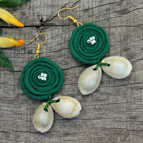 Green loop earring