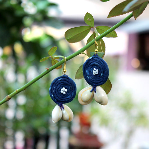 Indigo loop earring