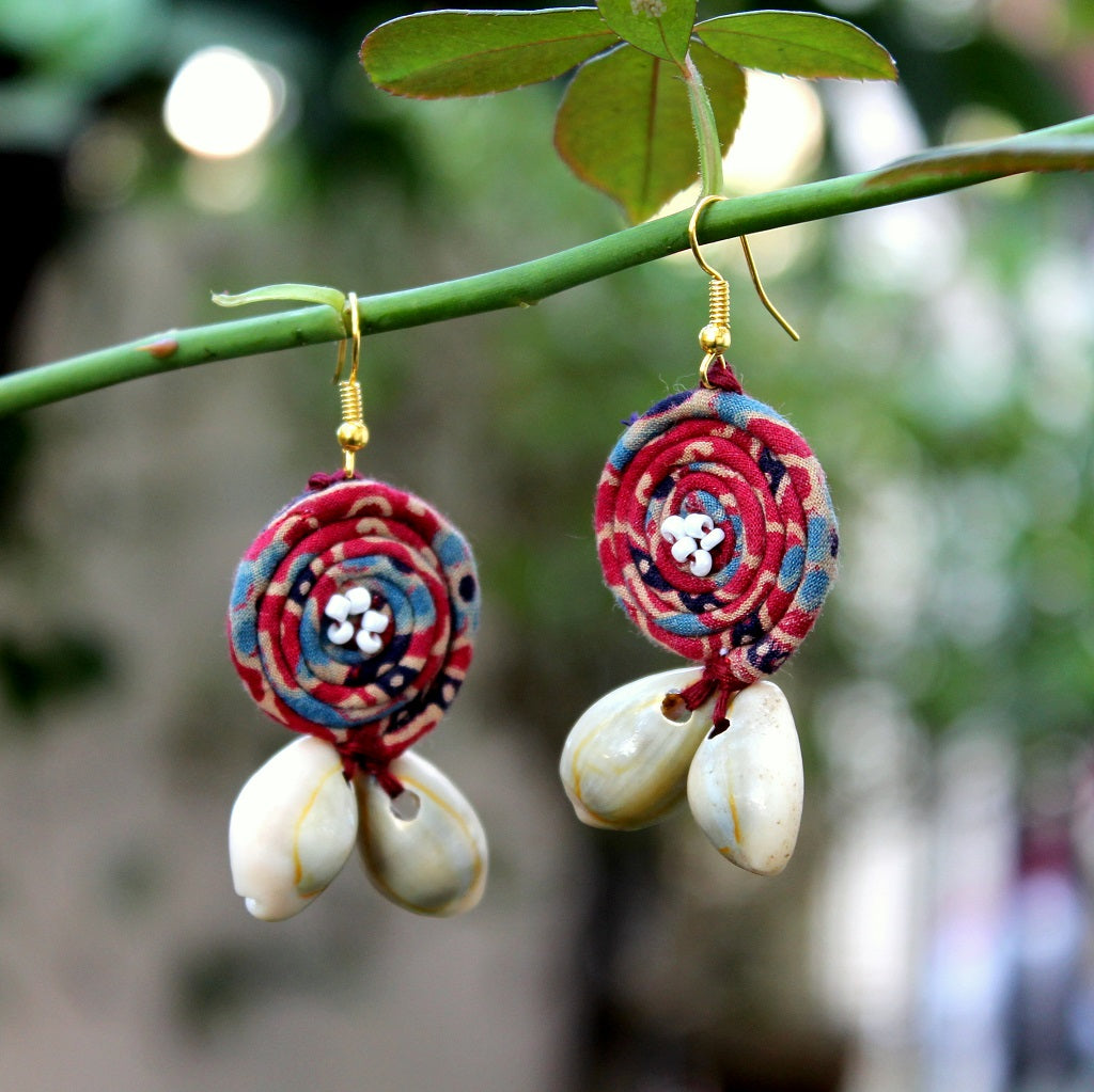 Ajrakh loop earring