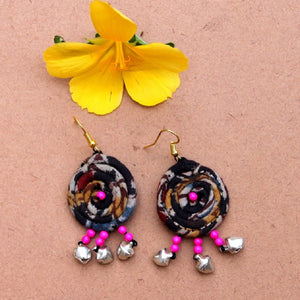 Black boho earring