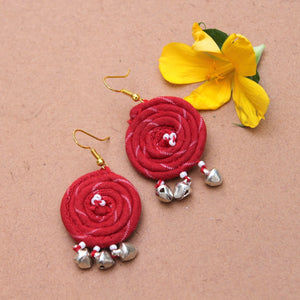 Red boho earring