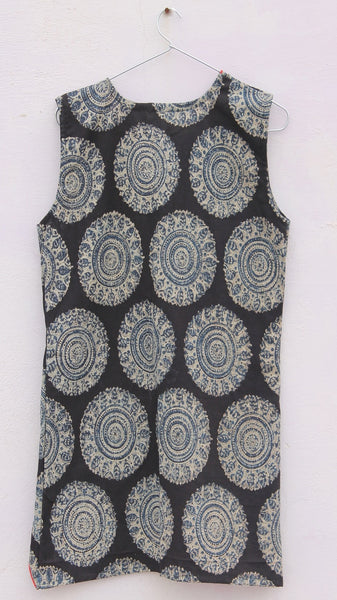 Wing cotton indigo kalamkari shrug