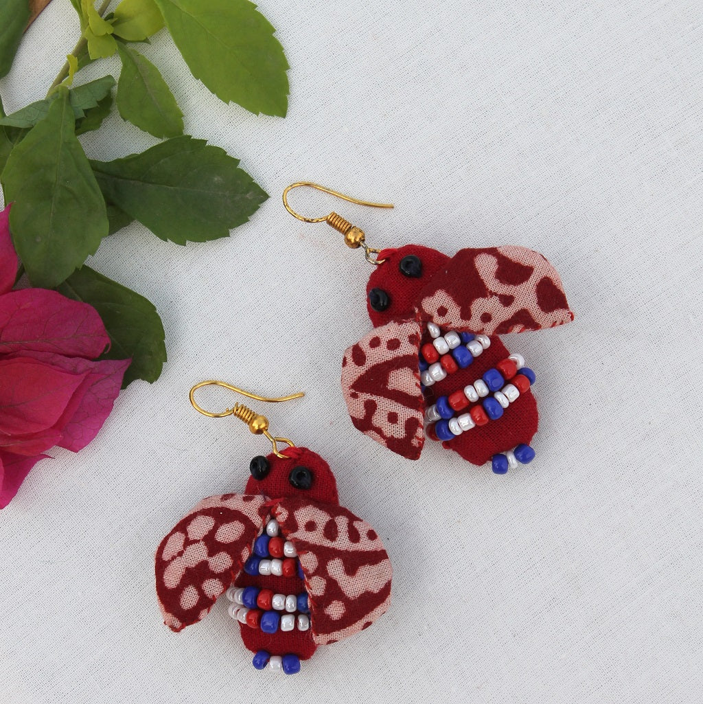 Ladybird quirky earring