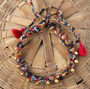 Black kalamkari necklace