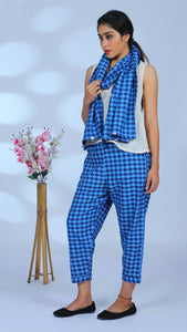 Gingham blue Co-ord: 3 pc set