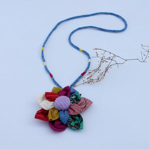 satrangi floral pendant necklace online available at bebaakstudio.com