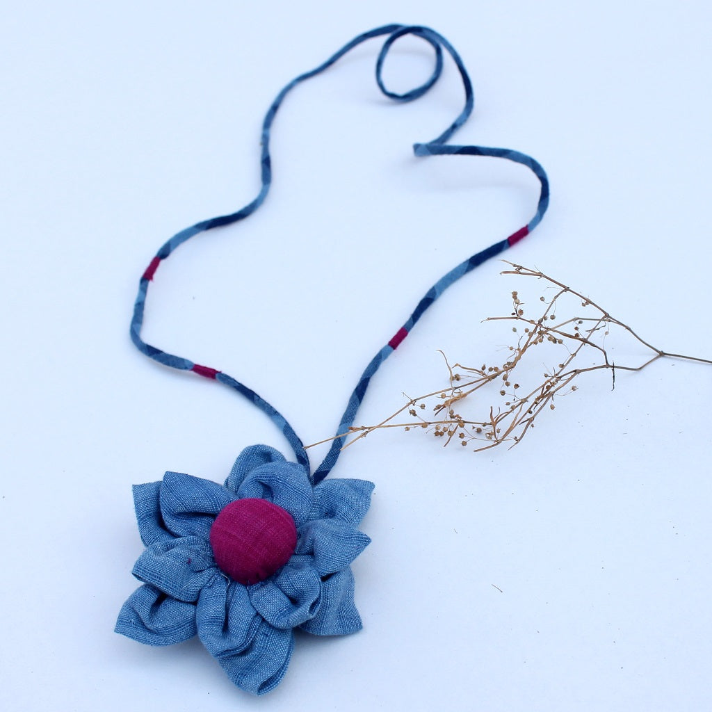 Neer floral pendant necklace online available at bebaakstudio.com
