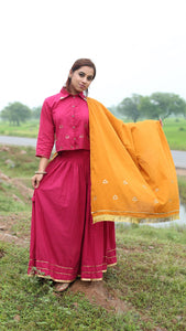 Haldi chandan solid dupatta with sequin detailing online at bebaakstudio
