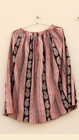 Shop Bagh print Morni gather skirt online at bebaakstudio.com