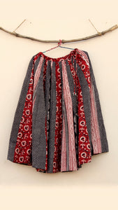 Shop Bagh print flared skirt online at bebaakstudio.com