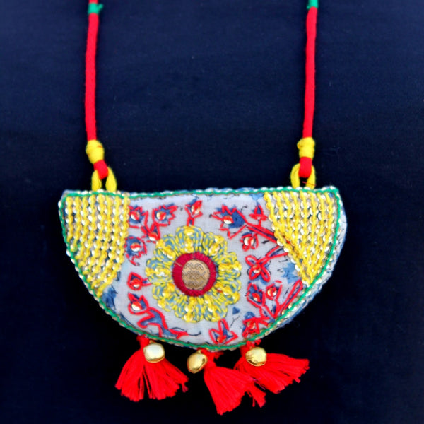 Mastani asmani tassel necklace