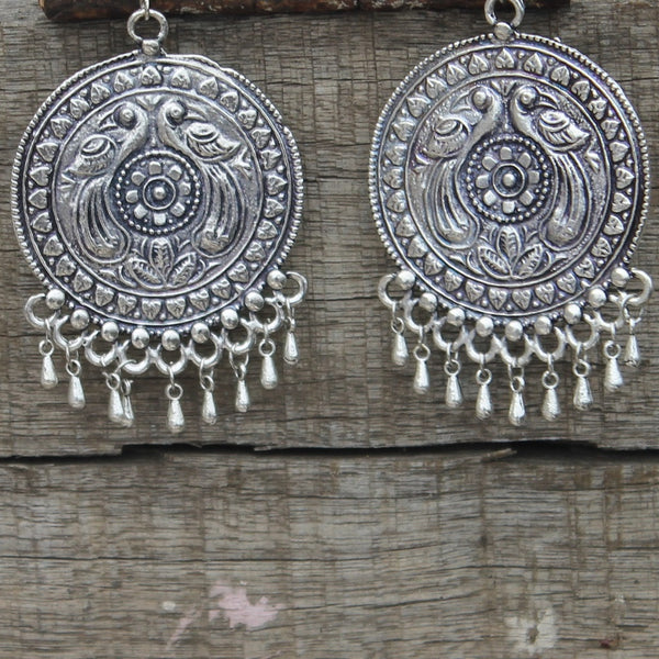 Shop German silver earrings and jhumkas online at bebaakstudio
