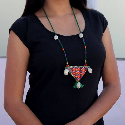 Mastani Triangle necklace online at bebaakstudio