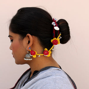 Soorajmukhi up-cycled earchains