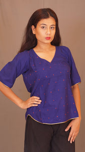 Rainbow angarkha blue top