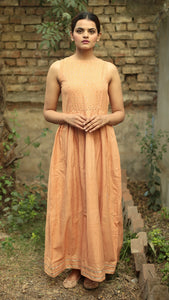 Honey gathered long dress