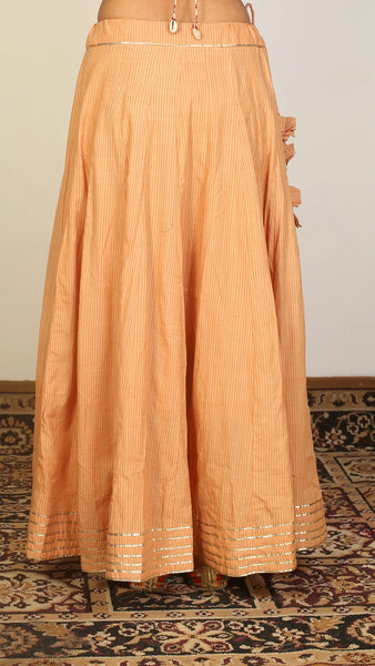 Honey panel flared skirt