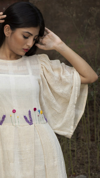 Kora embroidered flowy dress