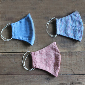 Plain cotton pack of 3 Face mask  online available at bebaakstudio.com