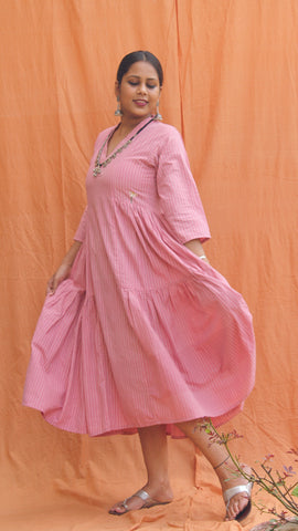 Pink flared masakali Dress/Tunic