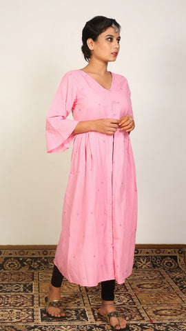 Pink gathered tunic