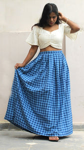 Masakali long cotton skirt set online available at bebaakstudio.com