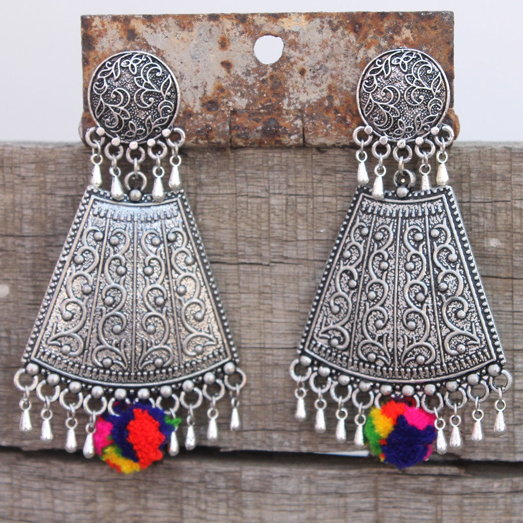 Tarangi rainbow royal earring by bebaak