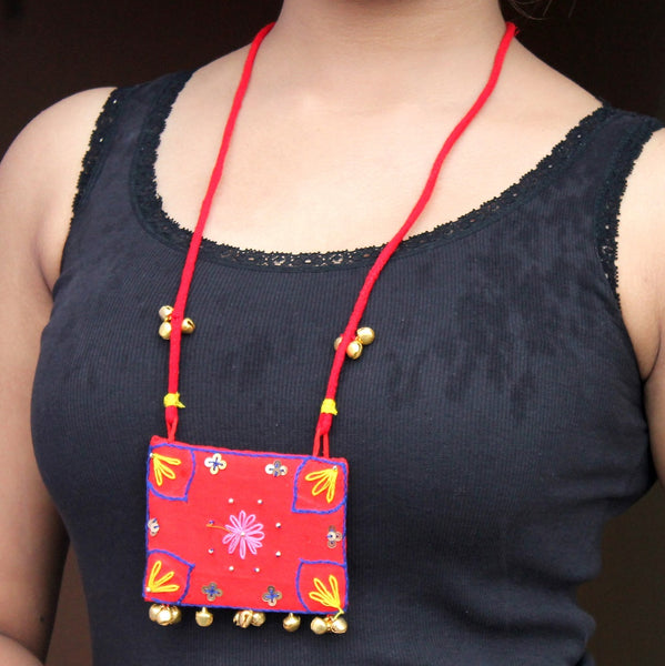 Mastani Red sequin necklace online at bebaakstudio.com