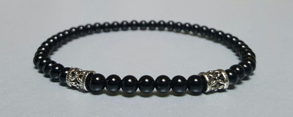 The Protector Set w/ 4mm Sterling Silver Beads Accent Bracelet