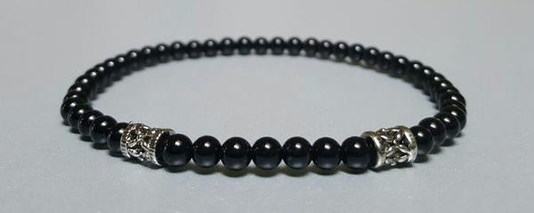 The Supporter Set w/ 4mm Sterling Silver Bead Accent Bracelet