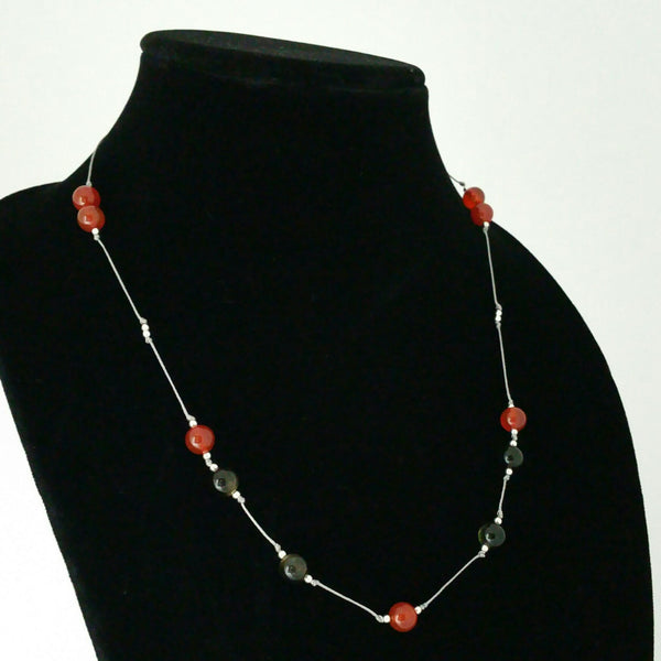 Hand Knotted Silk Thread Beaded Necklace - CASUAL C01